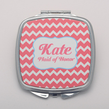 Carol Chevron Personalized Mirror