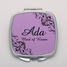 Lavender Swirl Personalized Mirror
