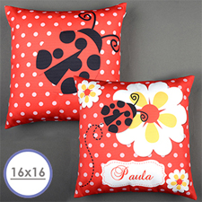 Ladybug Personalized Pillow Cushion Cover 16