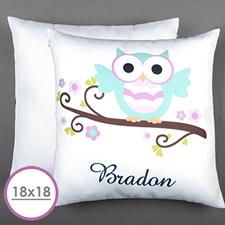 Owl Personalized Large Cushion 18