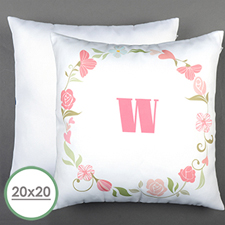 Floral Wedding Personalized Large Pillow Cushion Cover 20