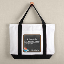 Chalkboard Personalized Tote For Teacher