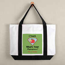 Super Teacher Personalized Tote Bag