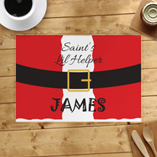Saint's Little Helper Personalized Placemat