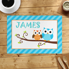 Blue Owl Personalized Placemat