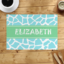 Blue Leopard Personalized Placemat