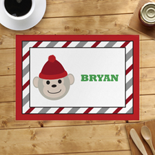 Red Monkey Personalized Placemat