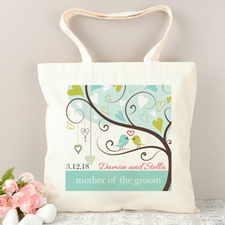 Mother Of The Groom Love Birds Personalized Tote Bag