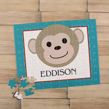 Monkey Boy Personalized Kids Puzzle