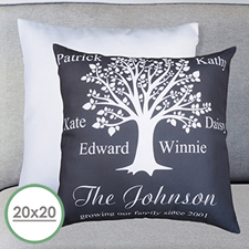 Black Family Tree Personalized Large Pillow Cushion Cover 20