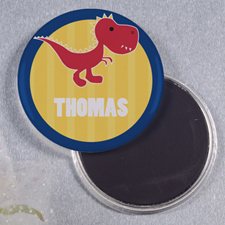 Dinosaur Personalized Button Magnet