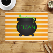Cauldron Personalized Halloween Placemat