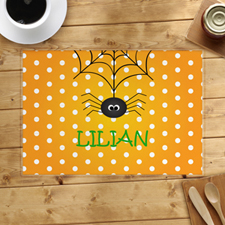 Spider Web Personalized Halloween Placemat