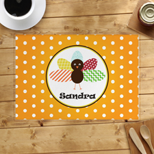 Personalized Thanksgiving Polka Dot Placemat