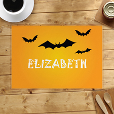 Bat Personalized Halloween Placemat