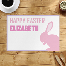 Pink Bunny Personalized Placemat