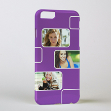 Plum Three Collage Photo Personalized iPhone 6 Case