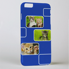 Blue Three Collage Photo Personalized iPhone 6+ Case