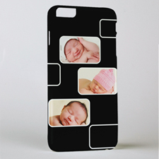Black Three Collage Photo Personalized iPhone 6+ Case