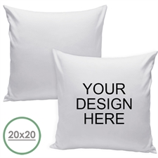 20 X 20 Custom Design Pillow (White Back) Cushion (No Insert)