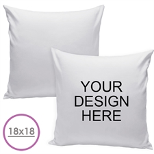 18 X 18 Custom Design Pillow (White Back) Cushion (No Insert)