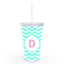 Sky Chevron Personalized Double Wall Tumbler
