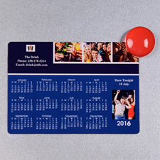 2016 Four Collage Photo Calendar Magnet 3.5