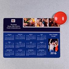 2016 Four Collage Photo Calendar Magnet 3.5