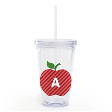 Custom Red Apple Personalized Teacher Insulated Tumbler