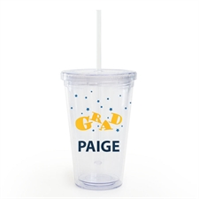 Customize Graduation Acrylic Double Wall Tumbler