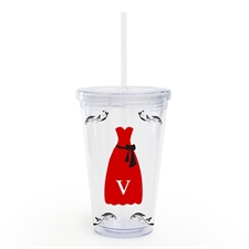 Red Black Bridesmaid Dress Custom Insulated Tumbler