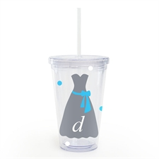 Grey Dress Personalized Wedding Acrylic Double Wall Tumbler