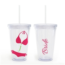 Design Your Own Pink Bikini Bride Insulated Tumbler