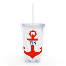 Red Anchor Personalized Acrylic Double Wall Tumbler