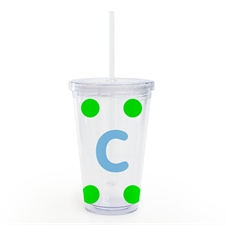 Design Your Own Lime Large Dot Insulated Tumbler
