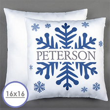 Snowflake Personalized Pillow Cushion Cover 16