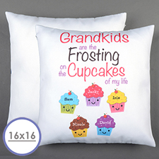 Five Cupcakes Personalized Pillow 16x16(NO INSERT)