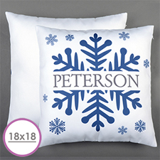 Snowflake Personalized Large Cushion 18