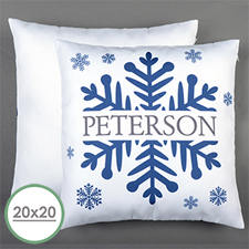 Snowflake Personalized Large Pillow Cushion Cover 20