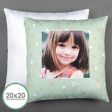 Aqua Dot Personalized Large Pillow Cushion Cover 20