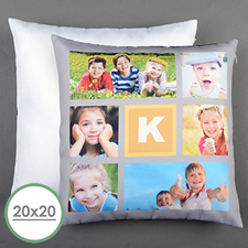 Lemon Collage Personalized Large Pillow Cushion Cover 20