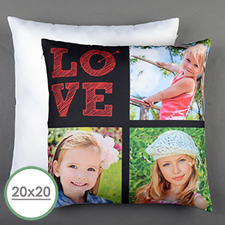 Love Arrow Red Personalized Large Pillow Cushion Cover 20