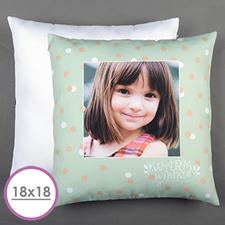 Aqua Dot Personalized Large Cushion 18