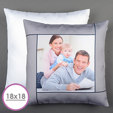 Grey Personalized Large Cushion 18