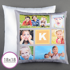 Lemon Six Collage Personalized Large Cushion 18