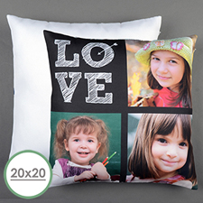 Love Arrow White Personalized Large Pillow Cushion Cover 20