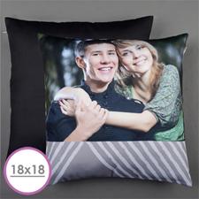 Grey Print Personalized Large Cushion 18