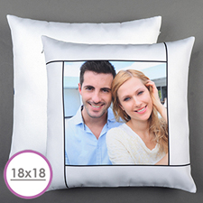 White Personalized Large Cushion 18