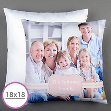 Pink Frame Personalized Large Cushion 18
