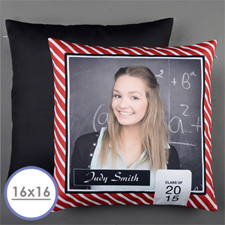 Red Class of 2015 Personalized Pillow 16x16